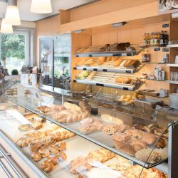 Rundblick Bäckerei, Auslage