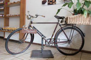 Mit diesem Fahrrad fuhr Otto Klumpp einst seine Brezeln aus