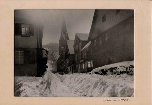 Rundblick, Oberdorfstr. 37 im Schnee, Jahr 1925